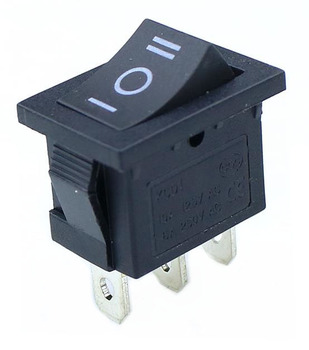 5VNT KCD1 Mini Black 3 Pin / 6 pin On/Off/On Svirtinis Jungiklis AC 6A/250V10A/125V