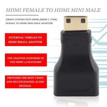HDMI Mini HDMI Konverteris Adapteris Mini HDMI adapteris HDMI V1.4 Ethernet 1080P 3D&Blue ray, Nemokamas Pristatymas