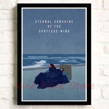 Jim Carrey Eternal Sunshine of the Spotless Mind Padengtas popierius Plakatas Atspausdina HD Nuotrauka Namų Puošybai Svetainės Frameless